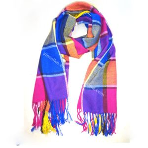 Hot Colorful Plaid Fashion Women Pashmina Scarf pictures & photos