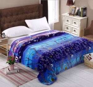 Super Soft Printed Flannel Blanket Sr-B170305-1 Printed Coral Fleece Blanket pictures & photos