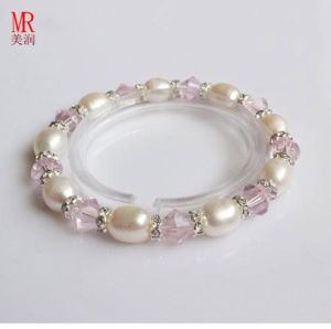 Stretched Children Kids Freshwater Pearl Bracelet pictures & photos