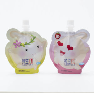 Plastic Food Multilayer Retort Anti-Swallow Spout Pouch for Baby Food pictures & photos