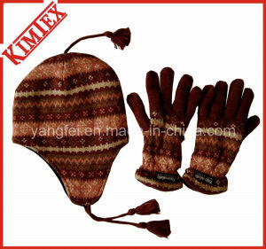 Winter Warmer Acrylic Knitted Promotion Jacquard Sets pictures & photos