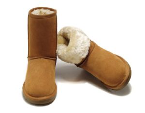 Sheepskin Leather Winter Snow Boot