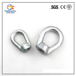 Pole Line Fittings Galvanized Steel Forged Oval Eye Nuts pictures & photos