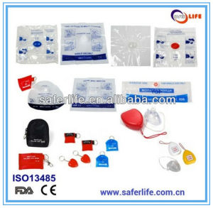 First Aid Emergency Resuscitator Mask CPR Face Shield with Key Chain for Training pictures & photos