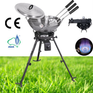 Gas Stove Gas Burner Carbon Wok Kit Spoon, Skimmer, Spatula pictures & photos