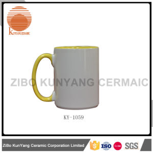 11oz Color Inside and Color Hanlde Sublimation Mug pictures & photos