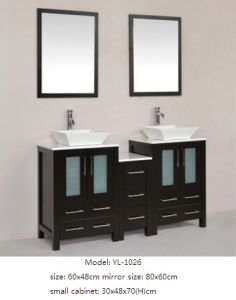 Solid Wood Bathroom Vanity Sanitary Ware Furniture pictures & photos