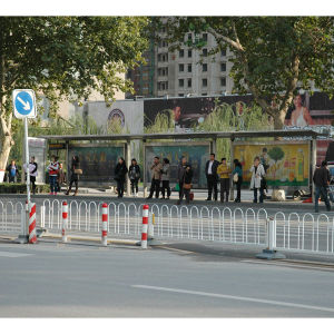 City Advertising Bus Stop with LED Light Box pictures & photos