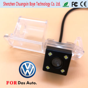 Mini Car Camera with 4 LED Lights Fit for Volkswagen 2011 Golf Polo Magotan Passat Cc pictures & photos