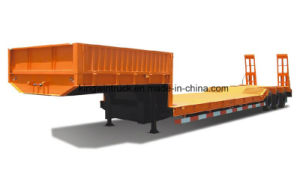 China Brand 30 Tons Low Bed Semi Trailer pictures & photos