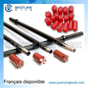 Shank Hex22*108mm Taper Drill Rod for Pneumatic Rock Drill pictures & photos