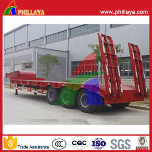 50 Tons Lowbed Semi Truck Low Boy Trailers with Ramp pictures & photos
