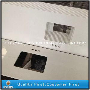 SGS Report Artificial Quartz Stone Kitchen Countertops pictures & photos