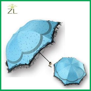 Nylon Beautiful Lady Umbrella Lace Edge Umbrella pictures & photos