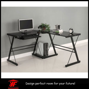Newest Models of L-Shaped Morden Tempered Glass Computer Table