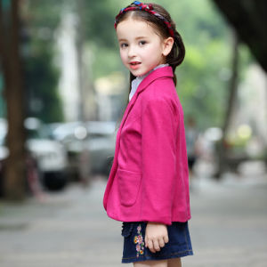 New Style Red Color School Blazer for Girls pictures & photos