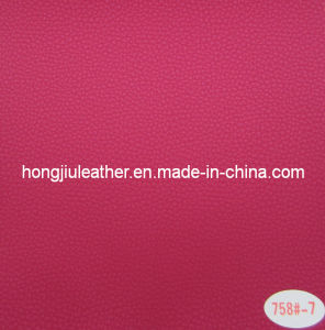 Colorful Litchi Pattern with Pearly Luster PVC Car Leather (758#) pictures & photos