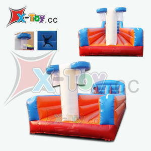 Inflatable Bungee Run Single and Double Lanes with Basketball Hoop (CH-PD3001)