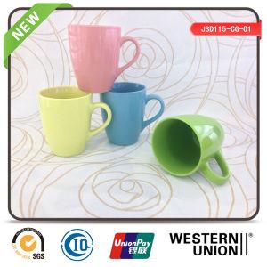 Colored Glaze Stoneware Coffee Mug in Solid Color