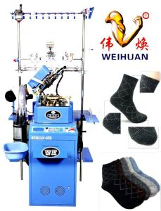 Weihuan (WH) Computerized Socks Knitting Machine for Weaving Terry and Plain Rabbit Hair Socks (WH-6F-R) pictures & photos