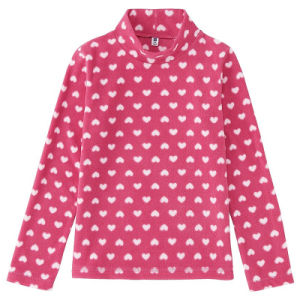 Custom Long Sleeve Girls Polar Fleece Shirt pictures & photos
