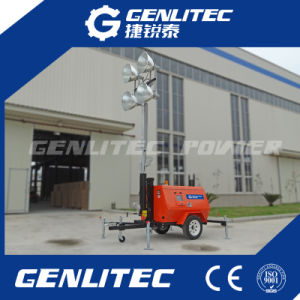 4*1000W Trailer Mounted Mobile Diesel Tower Light pictures & photos