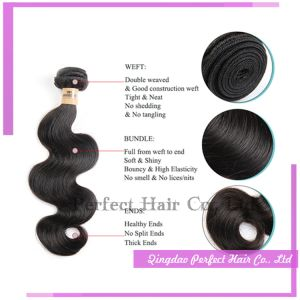 Natual Color Dyeable Body Wave Brazilian Hair Extensions pictures & photos