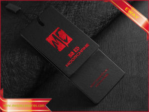 Black Paper Hang Tag with Red Foil (PP-HT-67) pictures & photos