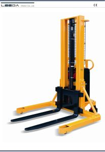 Straggle Leg Semi-Electric Stacker pictures & photos