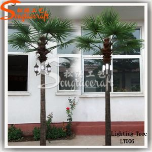 Graden Decoration Plastic Product Artificial Palm Tree with LED Light pictures & photos
