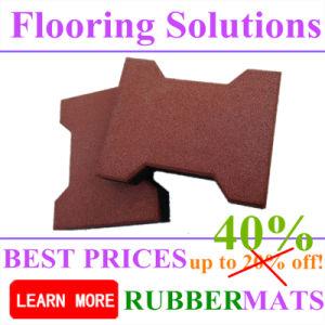 Durable Rubber Flooring Paver Tile Bone Shape pictures & photos