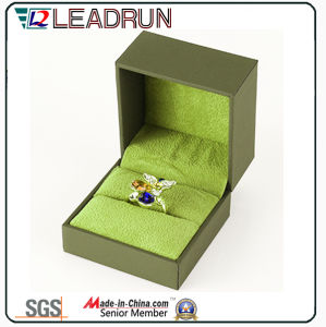 Leather Velvet Jewelry Storage Box Souvenir Present Bangle Cufflink Packing Gift Box (YSP135) pictures & photos