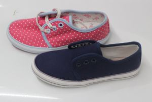 Beauty and Fashion Style Kids Canvas Shoes with Rubber Outsole (SNK-02127) pictures & photos