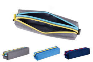 Nylon Double Layer Stationery Pencil Bag (MS9066) pictures & photos