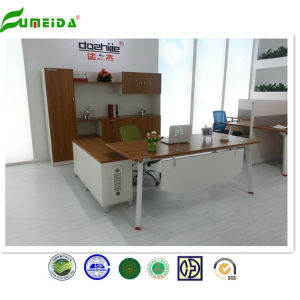 2015 Modern Golden Teak Melamine Executive Table with Side Table pictures & photos