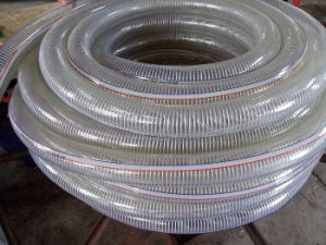 PVC Industrial Plastic Steel Wire Spring Discharge Water Hose pictures & photos