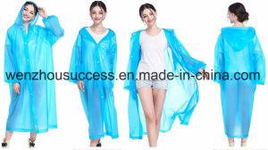 Custom Promotional Functional PVC Rain Poncho pictures & photos