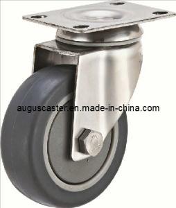 Medium Duty/304 Stainless Steel Swivel Grey TPR