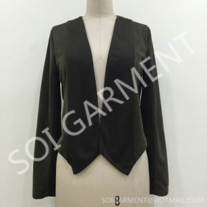 New Knit Chiffon Long Sleeve Lady Jacket with Suede (JA-03)