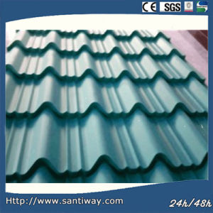 Green Corrugated Steel Sheet Wth Low Price pictures & photos