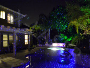Outdoor Green Blue Static Firefly Garden Laser Light for Christmas Decoration pictures & photos