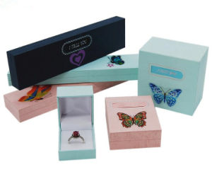 Fashion Jewelrry Paper Boxes with Butterfly Stickers pictures & photos