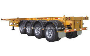 40FT and 20FT China Flatbed Container Semi Trailer