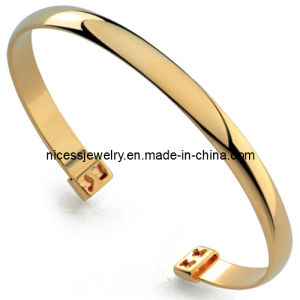 Fashion Stainless Steel Leather Bracelet (AB13)