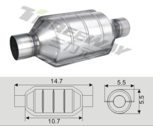 Exhaust Performance Catalytic Converter Euro4 for Small Cars & Trucks pictures & photos