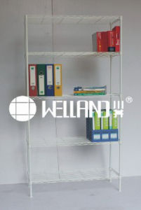 Hot Sale 5 Tiers Adjustable Metal Display Wire Shelf (LD9035180B5ER) pictures & photos