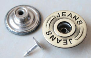 Silver Moving Jeans Buttons B293 pictures & photos