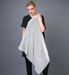 Silk Laser Cutting Scarf Foil Print Silk Scarf pictures & photos