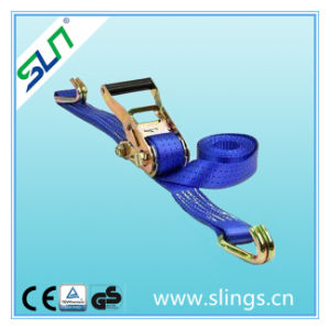 5t*50mm 9m Ratchet Strap with Double J Hook pictures & photos