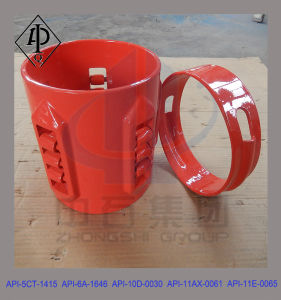 API Carbon Steel Rigid Roller Centralizer, Roller Casing Centralizer pictures & photos